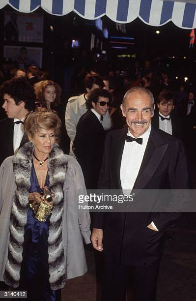 Film star Sean Connery at the premiere of the new James Bond film 'Never Say Never Again'