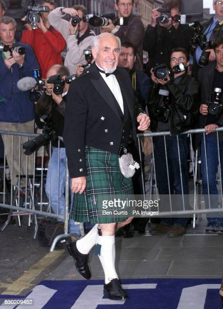 Film star Sean Connery's brother Neil Connery at Edinburgh's Odeon cinema at the UK premiere of the film 'Entrapment'