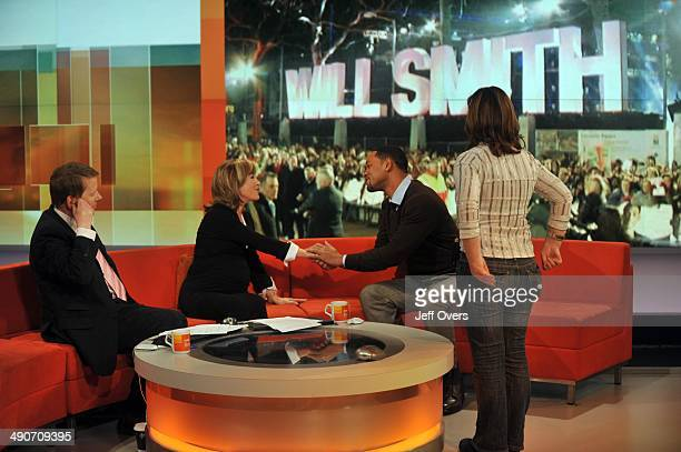 US film star Will Smith appearing on the BBC television programme Breakfast to talk about his new film Seven Pounds among other things