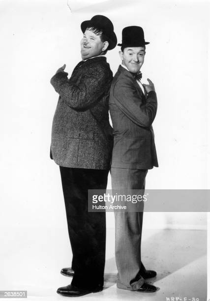 Film stars and producers Stan Laurel the Lancashire comedian and Oliver Hardy the tubby comedian from Georgia Original Publication People Disc HF0729