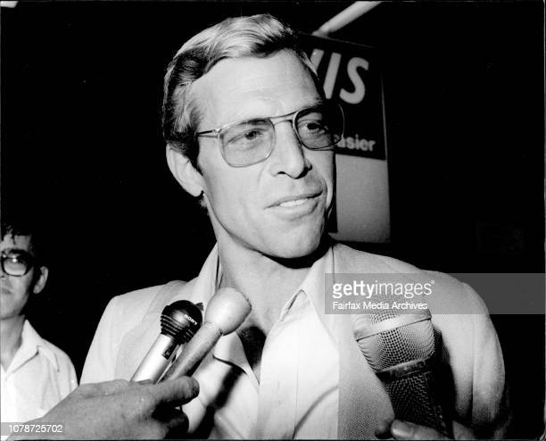 Film stars James Franciscus and Tina Louise arrived in Sydney today to star in ABC Telemovie Puzzle February 17 1977
