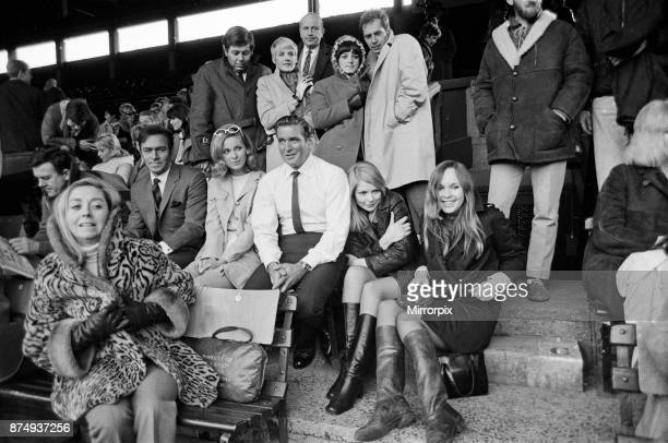 Film stars Rod Taylor Christopher Plummer and Camilla Sparv together with 175 extras this morning sat in the stands of the Centre Court at Wimbledon...