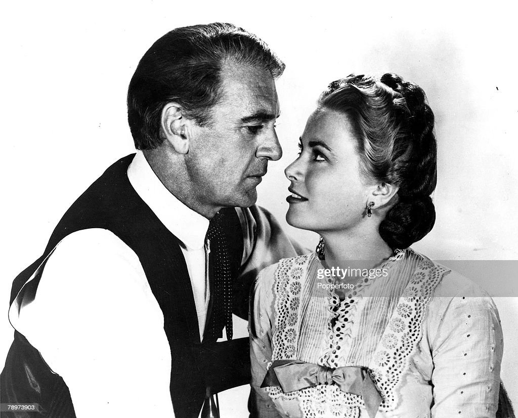 1952, A film still from the classic movie Western -High Noon+ starring Gary Cooper and Grace Kelly