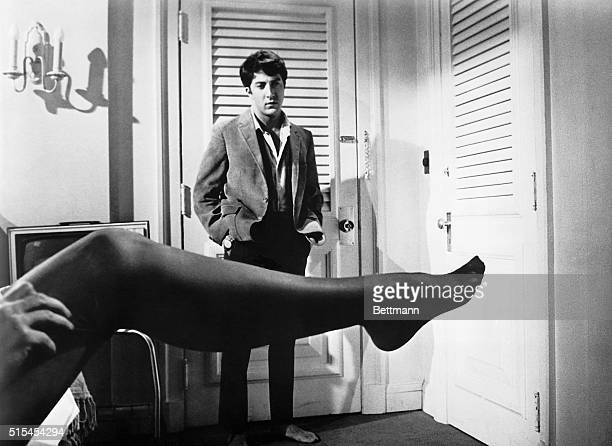 Film still from United Artist/Embassy pictures' 1967 release 'The Graduate' in which Dustin Hoffman plays a college graduate who becomes involved in...
