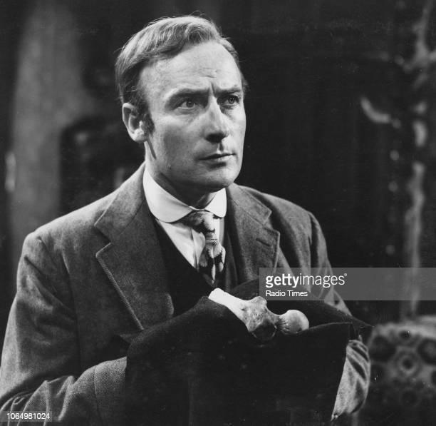 Film still of actor Edward Woodward, circa 1970.