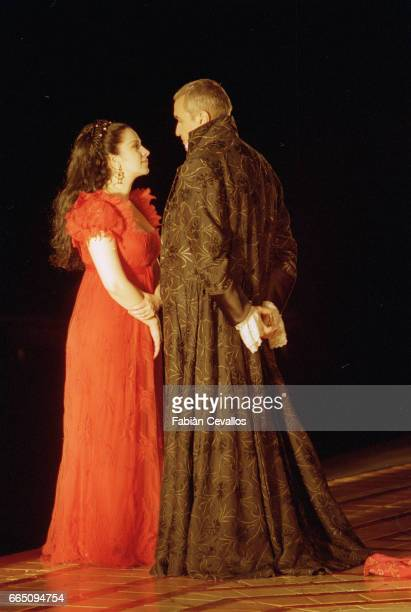 Film still of Tosca starring opera singers Ruggero Raimondi and Angela Gheorghiu The film directed by Benoit Jacquot is based on the opera by Giacomo...