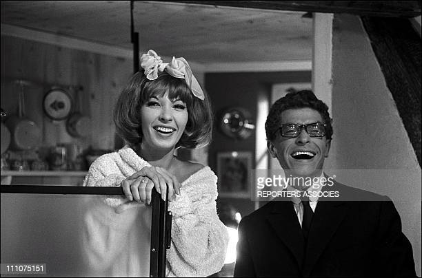 Film Strip Tease Darry Cowl and Dany Saval in France on October 03rd 1961