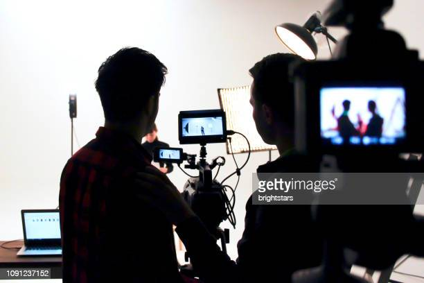 film studio - cinematographer stock pictures, royalty-free photos & images