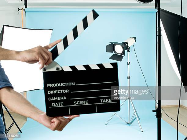film studio - clapboard stock pictures, royalty-free photos & images