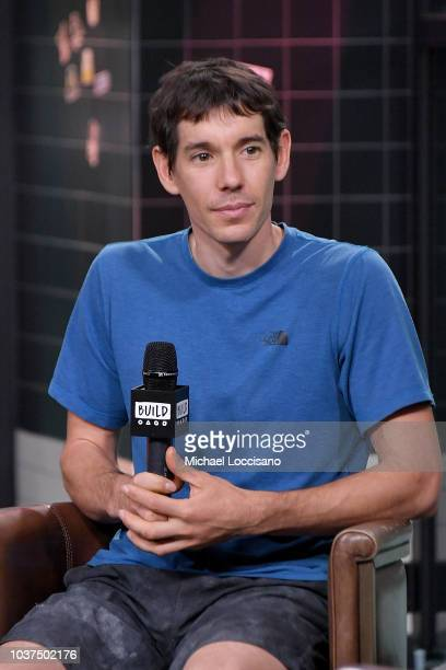 Film subject Alex Honnold visits Build to discuss the documentary Free Solo at Build Studio on September 21 2018 in New York City
