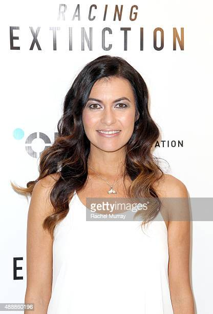 Film subject and race car driver Leilani Munter attends the Los Angeles premiere of RACING EXTINCTION at The London West Hollywood on September 17...