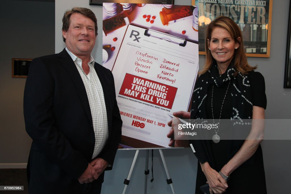 Film subject Britt Doyle and filmmaker Perri Peltz pose for a photo during the San Francisco premiere of 'Warning: This Drug May Kill You' on April 20, 2017 in San Francisco, California.
