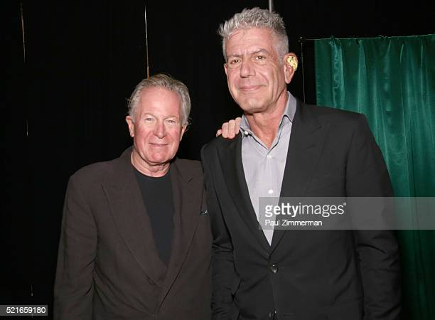 Film subject chef Jeremiah Tower and Executive Producer Anthony Bourdain at CNN Films Jeremiah Tower The Last Magnificent at TFF Panel Party on April...