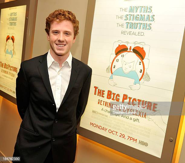 Film subject Dylan Redford attends HBO's New York Premiere of The Big Picture Rethinking Dyslexia on October 25 2012 in New York City