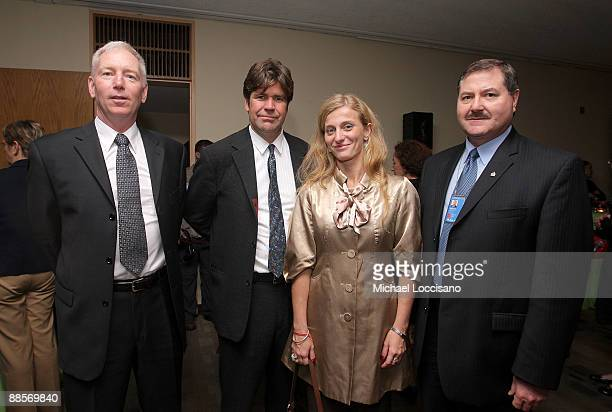 Film Subject, First Sargeant William Vonzehle, Director Greg Barker, Film Subject Carolina Larriera and Interpol Executive Committee Member Thomas...