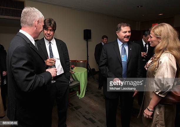Film Subject, First Sargeant William Vonzehle, Director Greg Barker, Interpol Executive Committee Member Thomas Fuentes and Film Subject Carolina...