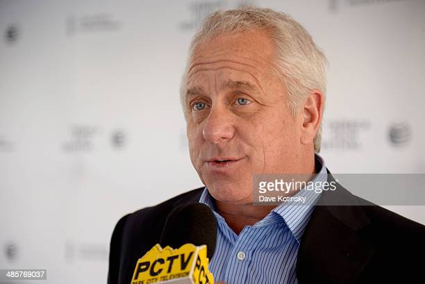"""Film subject Greg LeMond attends the """"Slaying The Badger"""" Premiere during the 2014 Tribeca Film Festival at the SVA Theater on April 20, 2014 in New..."""