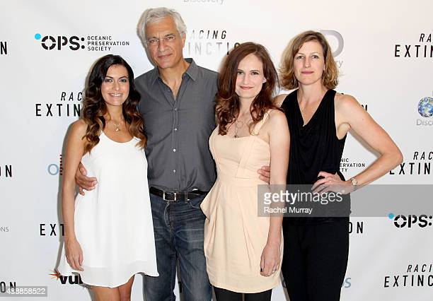 Film Subject Leilani Munter director Louis Psihoyos CoProducers Gina Papabeis and Olivia Ahnemann attend the Los Angeles premiere of RACING...