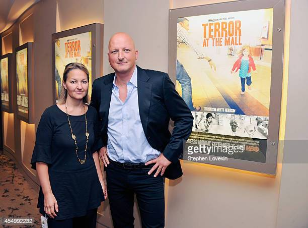 Film subject Margie Brand and Producer/Director Dan Reed attend The New York Premiere Of The HBO Documentary Film Terror At The Mall at HBO Theater...