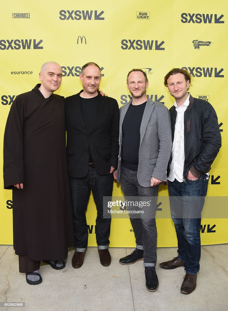 Film subject Phap Linh, his brother, Co-Director Max Pugh, Co-Director Marc Francis, and his brother, Executive Producer Nick Francis attend the 'Walk With Me' premiere during 2017 SXSW Conference and Festivals at the ZACH Theatre on March 12, 2017 in Austin, Texas.