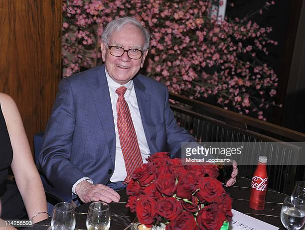Film subject Warren Buffett attends the 'Too Big To Fail' New York Premiere after party at the Four Seasons Restaurant on May 16 2011 in New York City