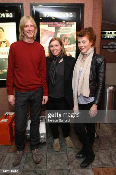 Film subjects and musicians of the alternative American rock group Hole Eric Erlandson Patty Schemel and Melissa auf der Maur attend a special...
