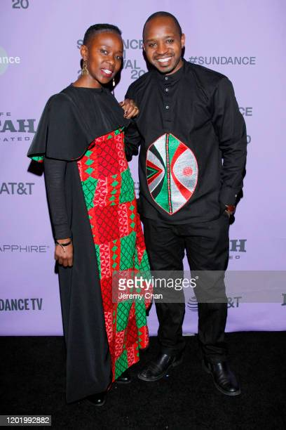 Film subjects Boniface Mwangi and Njeri Mwangi attend the 2020 Sundance Film Festival Softie Premiere at Park Avenue Screening Room on January 25...
