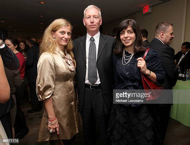 Film Subjects Carolina Larriera and First Sargeant William Vonzehle and HBO Documentary Films VP Nancy Abraham attend the HBO documentary screening...