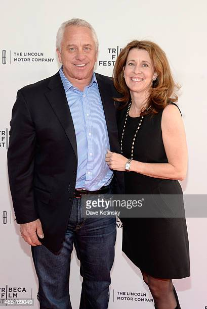 "Film subjects Greg LeMond and Kathy LeMond attend the ""Slaying The Badger"" Premiere during the 2014 Tribeca Film Festival at the SVA Theater on April..."