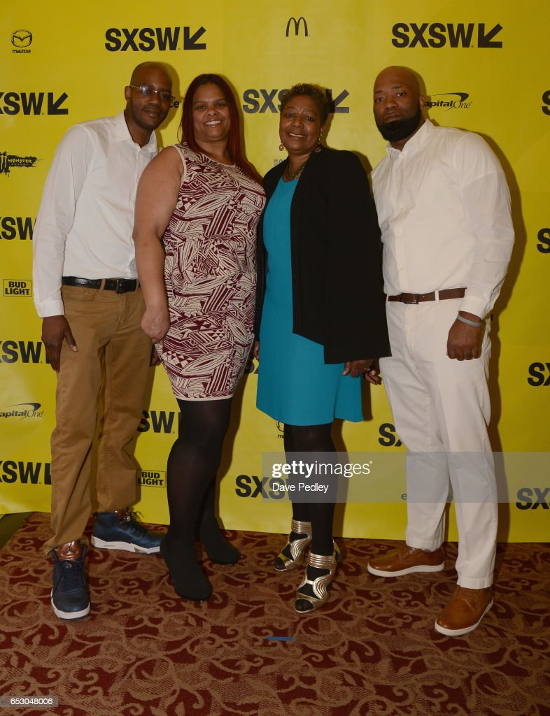 Film subjects Nate Hamilton, Chantelle Forbes, Maria Hamilton and Dameion Perkins attend the premiere of 'The Blood Is at the Doorstep' during 2017 SXSW Conference and Festivals at Alamo Ritz on March 13, 2017 in Austin, Texas.