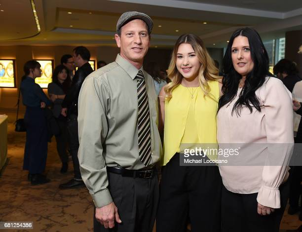 Film subjects Rod Blanchard Mia Blanchard and Kristy Blanchard attend the NY premiere of Mommy Dead and Dearest at HBO Theater on May 9 2017 in New...
