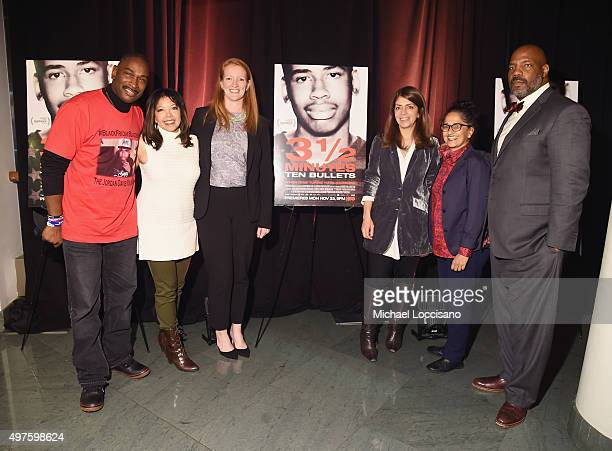 Film subjects Ron Davis and Lucia McBath producer Carolyn Hepburn Senior Vice President of HBO Documentary Films Nancy Abraham producer Su Patel and...