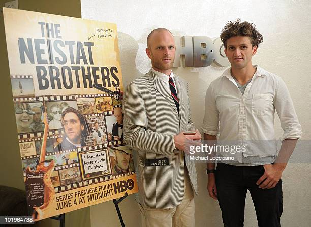 Film subjects Van Neistat and Casey Neistat attend the HBO screening of 'Neistat Brothers' at HBO Theater on June 10 2010 in New York City
