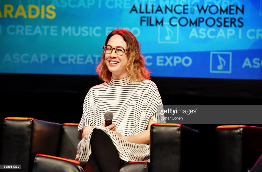 Film & TV composer Carly Paradis speaks onstage at 'Women in