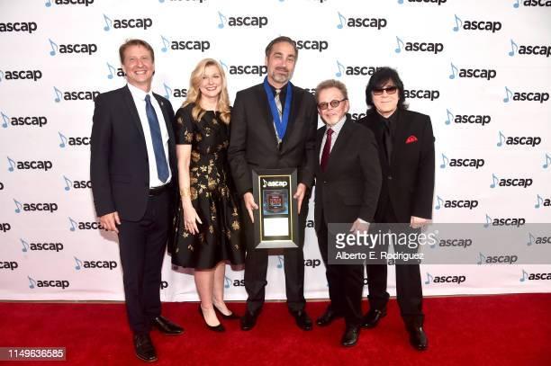ASCAP SVP Film TV Music / New Media Shawn Lemone ASCAP CEO Elizabeth Matthews Composer Jeff Cardoni winner of the award for Top Network Television...