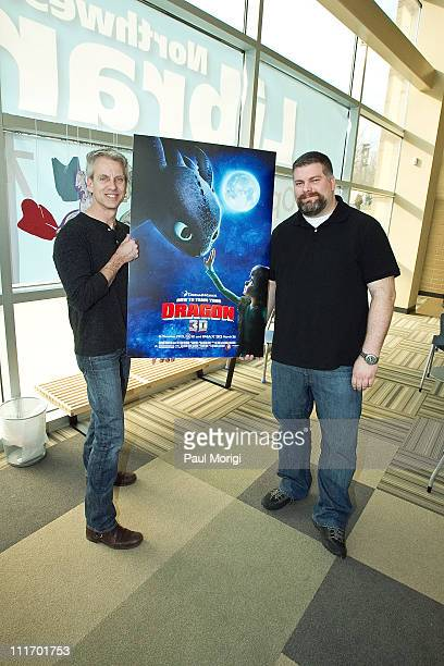 Filmakers Dean DeBlois and Chris Sanders discuss animation with students at the Northwest One Neighborhood Library on March 10 2010 in Washington DC