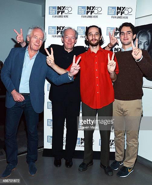 Filmakers Jean Pierre Dardenne Luc Dardenne Joshua Safdie and Ben Safdie attend In Conversation during the 52nd New York Film Festival at Film Center...