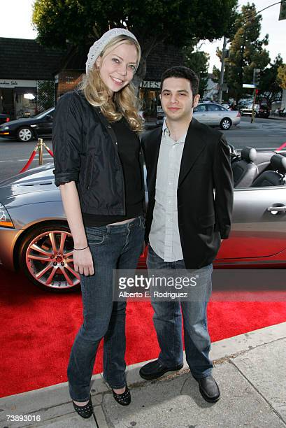 Filmakers Niki Lindholme and Samm Levine attend the opening night of the Malibu Film Festival on April 13 2007 in Los Angeles California
