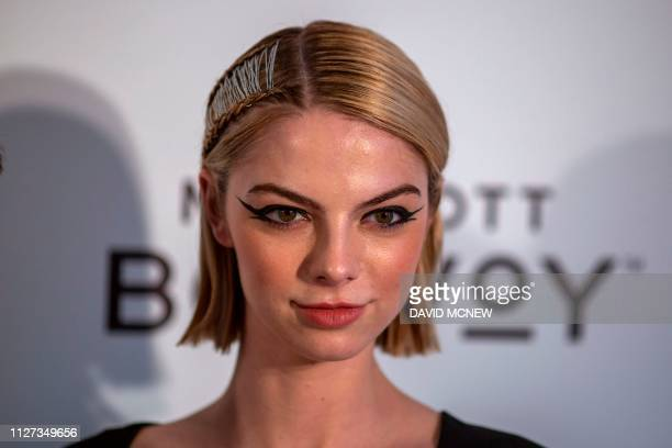 US filmdirector and actress Allie Marie Evans arrives to attend the Elton John AIDS Foundation Academy Awards Viewing Party in West Hollywood...