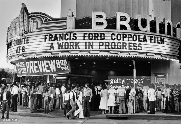 Filmgoers mill outside the Bruin Theatre in this 1978 West Los Angeles California photo in anticipation of Francis Ford Coppola's Vietnam war film...