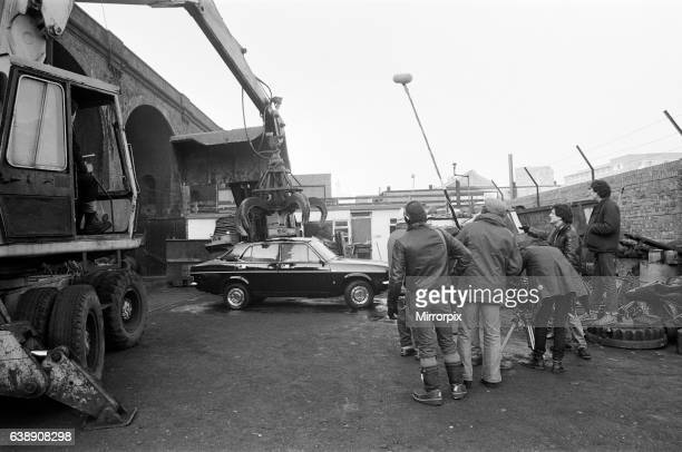 UB40 filming a video film in a scrapyard The video film will feature songs from their album 'Labour of Love'21st January 1983