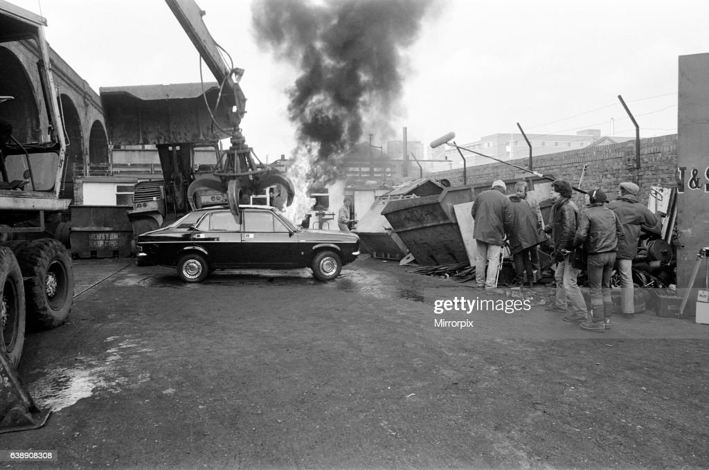 UB40 filming a video film in a scrapyard  The video film