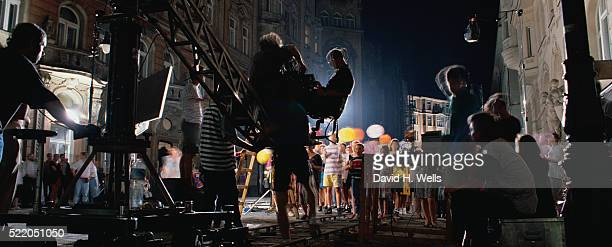 filming commercials - film crew stock pictures, royalty-free photos & images