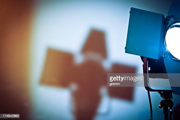 filming light in the studio - film set stock pictures, royalty-free photos & images
