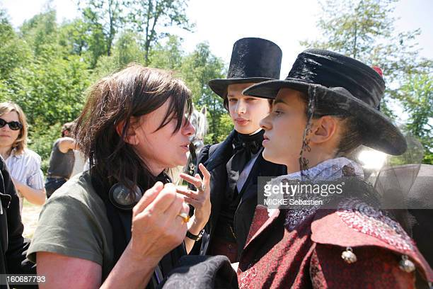 Filming of 'An old mistress' the masterpiece of Barbey d'Aurevilly adapted to cinema by Catherine BREILLAT director manager fervently Asia ARGENTO...