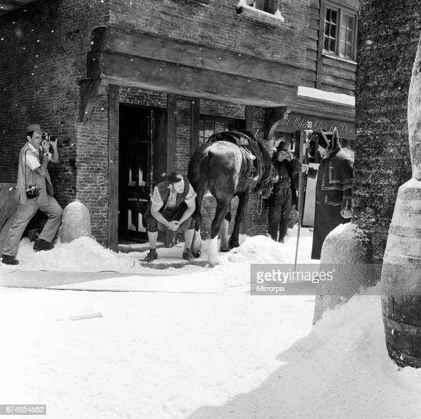 the scene which should have been shot in mid winter was being shot in August with a ton of featherlight polystyrene strewn about to represent the...