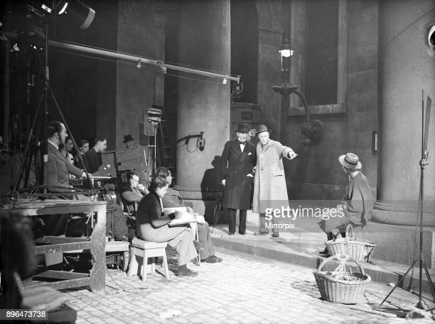 Filming of Pygmalion directed by Anthony Asquith and Leslie Howard at at Pinewood Studios London England 20th March 1938