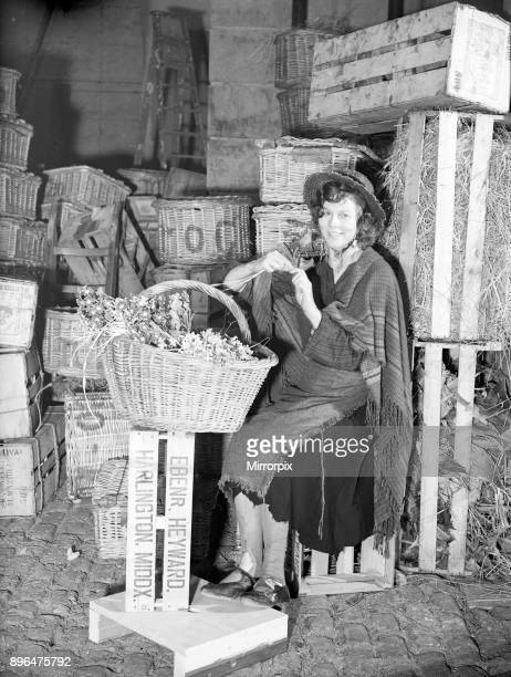 Filming of Pygmalion, directed by Anthony Asquith and Leslie Howard, at at Pinewood Studios, London, England, 20th March 1938. Actress, Wendy Hiller...