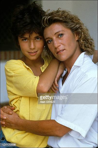 Filming of the movie 'L'ile au tresor' in Portugal on August 26 1985 Melvil Poupaud Sheila