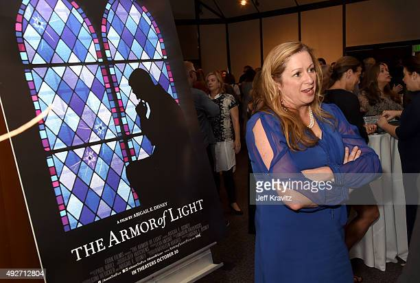 Filmmaker Abigail Disney attends the The Armor Of Light Los Angeles Premiere at the Directors Guild Of America on October 14 2015 in Los Angeles...